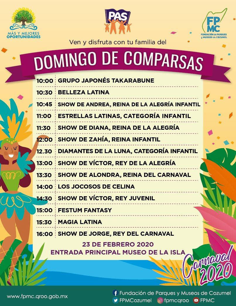 "LA FPMC INVITA AL TRADICIONAL ""DOMINGO DE COMPARSAS"""